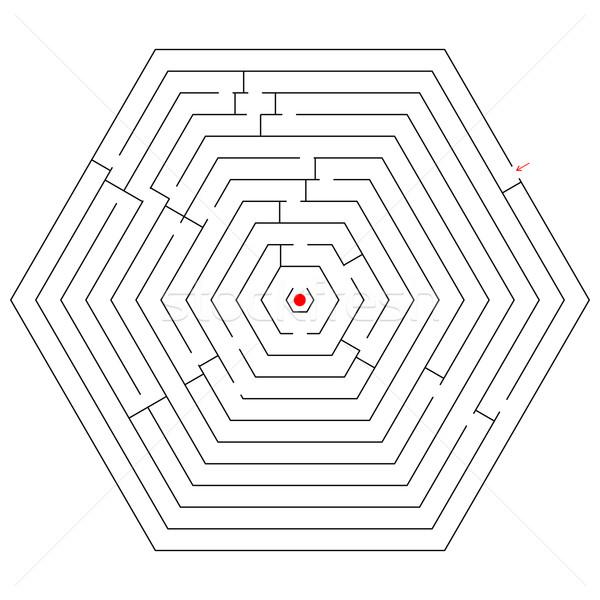 hexagonal black maze Stock photo © robertosch