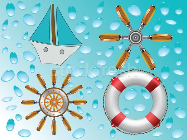 nautical icons collection Stock photo © robertosch