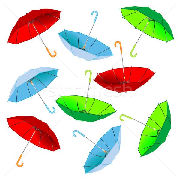 зонтик шаблон белый аннотация вектора искусства Сток-фото © robertosch