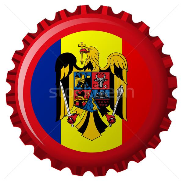 Roemenië abstract vlag fles cap geïsoleerd Stockfoto © robertosch