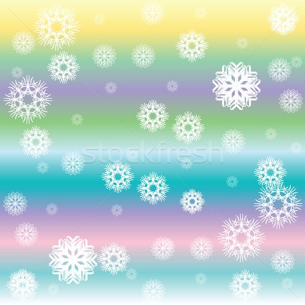 stripes and white snow flakes Stock photo © robertosch