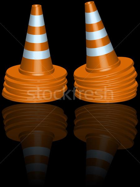 traffic cones piles Stock photo © robertosch