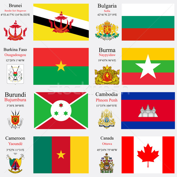 world flags and capitals set 4 Stock photo © robertosch