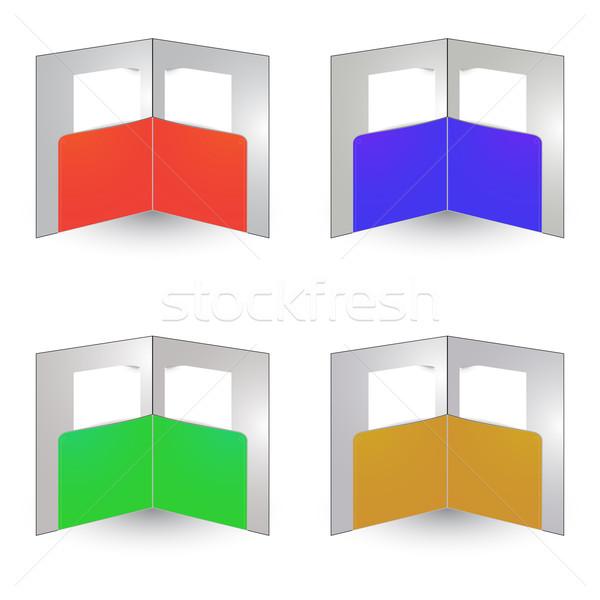 Brosúra fehér absztrakt vektor művészet üzlet Stock fotó © robertosch