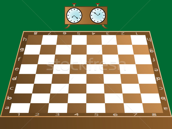 chess board and clock Stock photo © robertosch