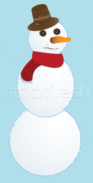 śniegu człowiek streszczenie wektora sztuki ilustracja Zdjęcia stock © robertosch