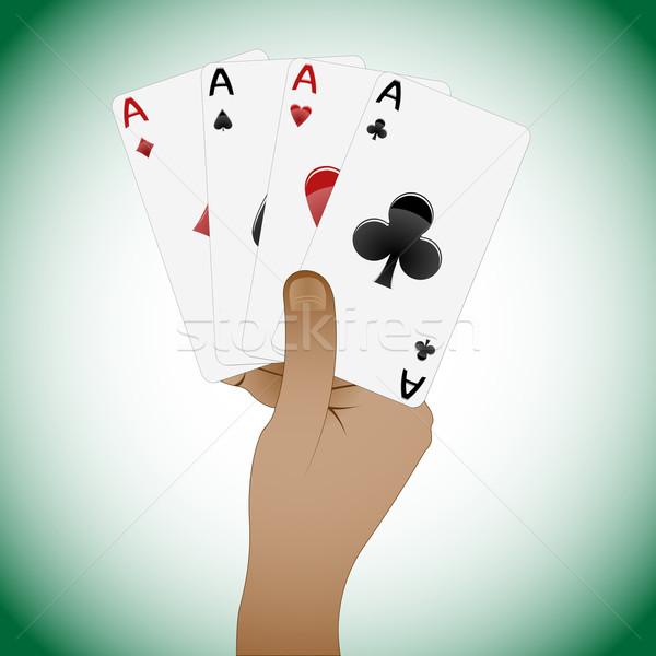 Karty do gry poker streszczenie wektora sztuki Zdjęcia stock © robertosch