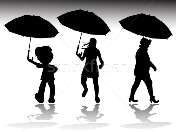 雨の 日 シルエット 抽象的な ベクトル 芸術 ストックフォト © robertosch