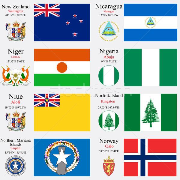 world flags and capitals set 17 Stock photo © robertosch