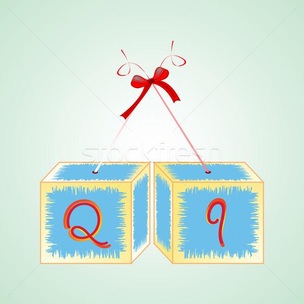 cubes alphabet Q Stock photo © robertosch