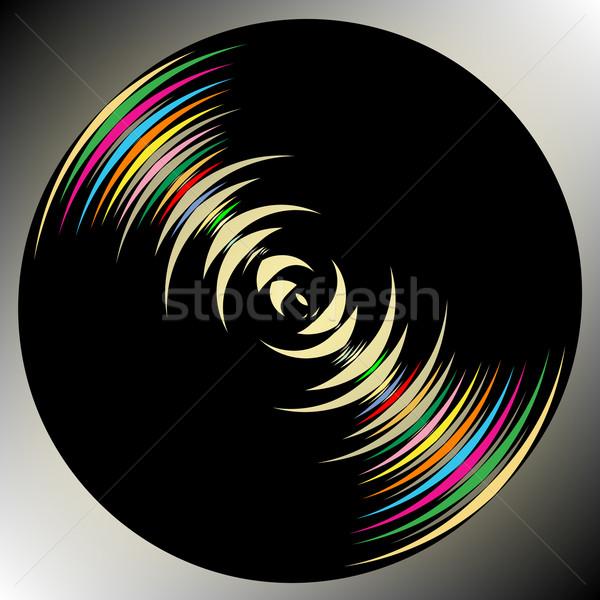 Sötét kör vektor művészet illusztráció textúra Stock fotó © robertosch