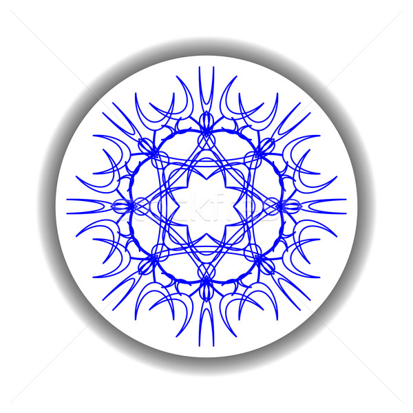 Schneeflocke Medaillon weiß abstrakten Vektor Kunst Stock foto © robertosch