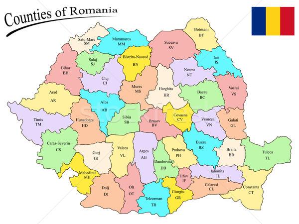counties of romania Stock photo © robertosch