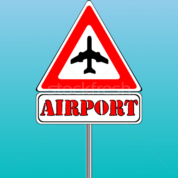 airport sign and blue sky background Stock photo © robertosch