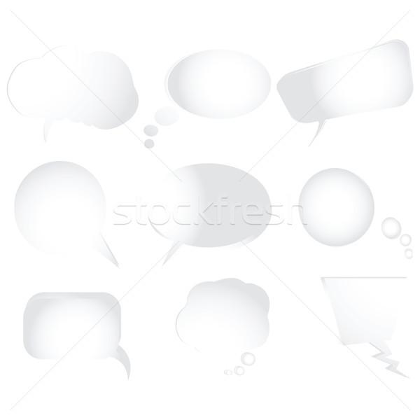 Gyűjtemény stilizált szöveg buborékok vektor izolált tárgyak Stock fotó © robertosch