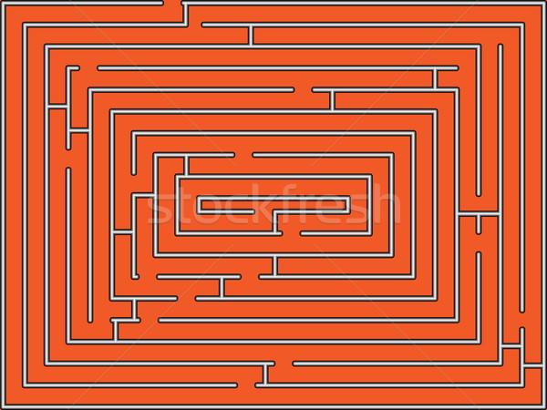Rechthoekig doolhof abstract vector kunst illustratie Stockfoto © robertosch