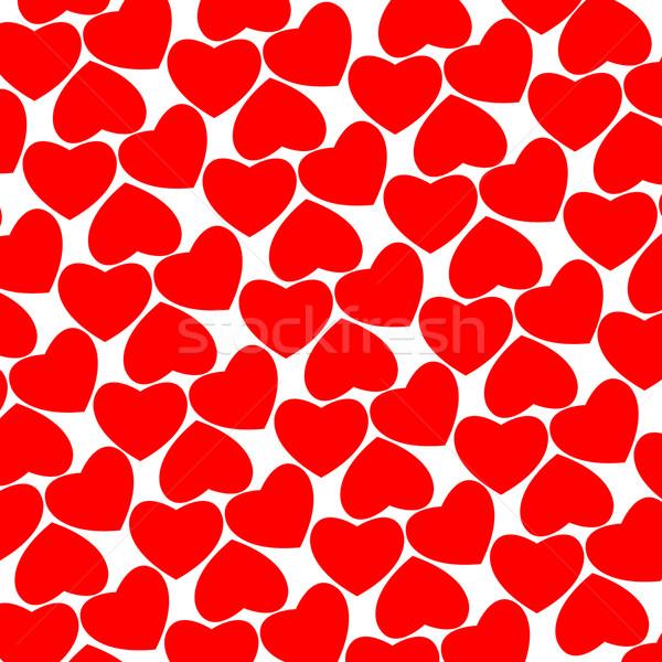 Foto stock: Coração · padrão · vetor · arte · ilustração · amor