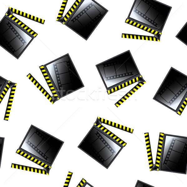movie cinema clapboard pattern Stock photo © robertosch