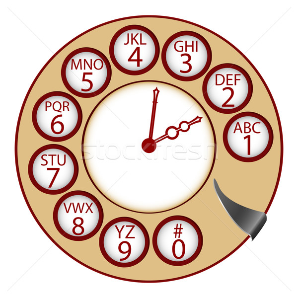 the telephone clock Stock photo © robertosch