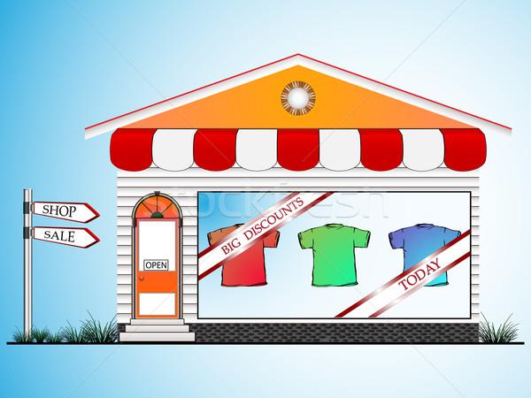 одежды магазин аннотация вектора искусства иллюстрация Сток-фото © robertosch