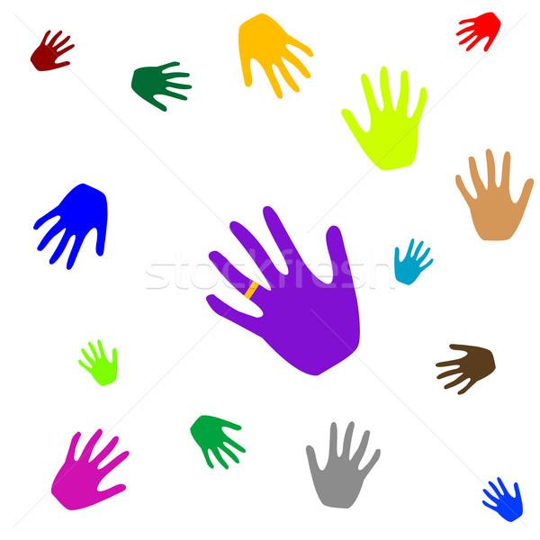 colored hands Stock photo © robertosch