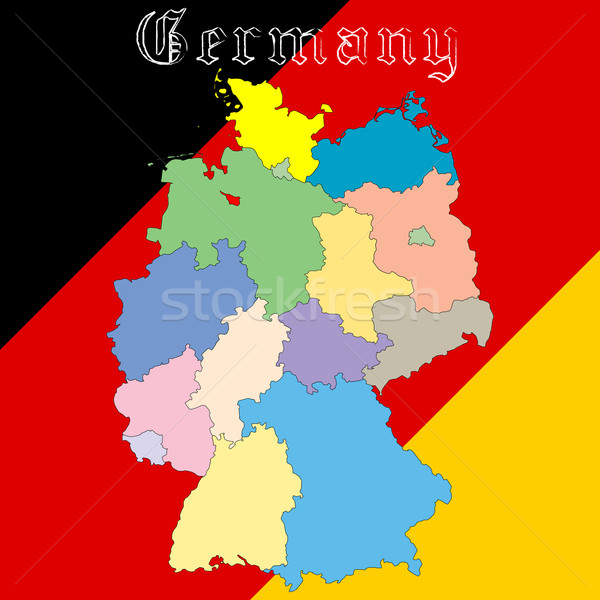 germany map over national colors Stock photo © robertosch