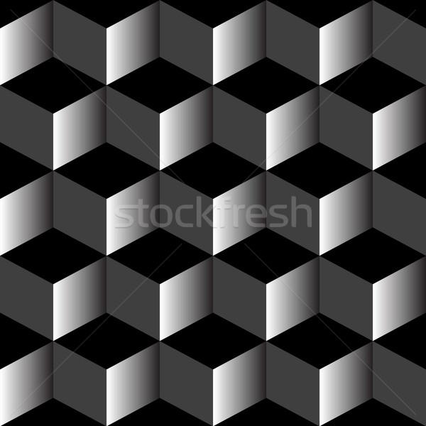 Psicodélico patrón mixto negro vector arte Foto stock © robertosch