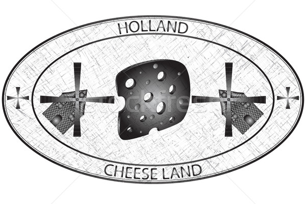 Holland tampon blanche résumé vecteur art Photo stock © robertosch