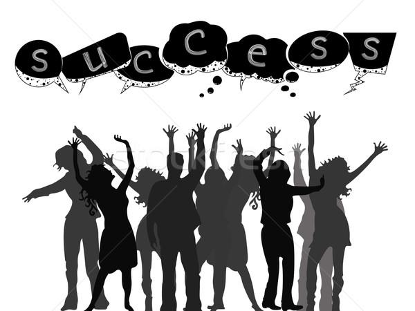 successful people silhouettes Stock photo © robertosch