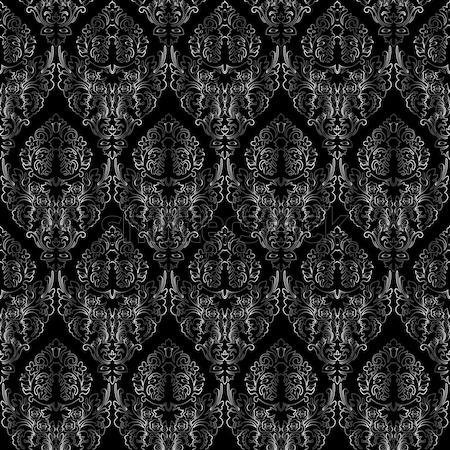 Damaszt végtelenített textúra absztrakt vektor művészet Stock fotó © robertosch