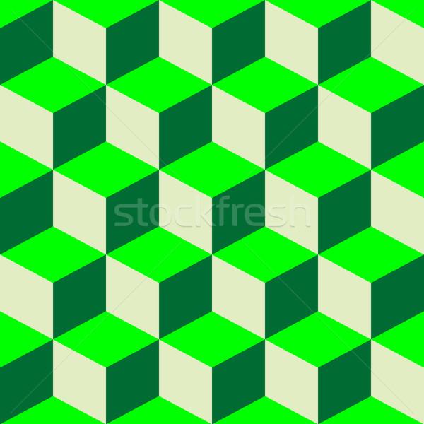 Psicodélico patrón mixto verde vector arte Foto stock © robertosch