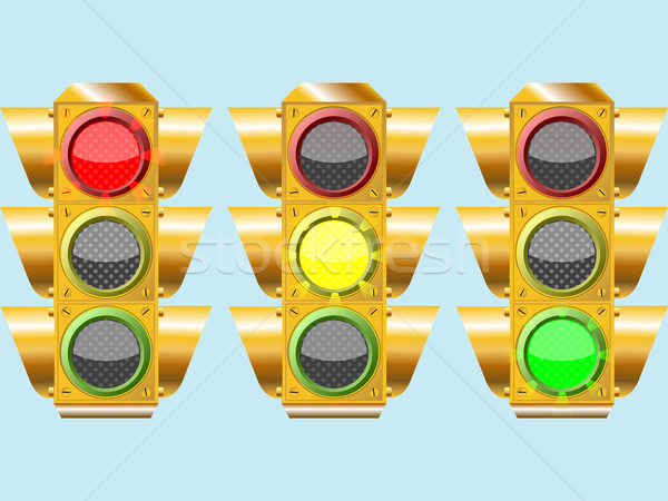 three different traffic lights Stock photo © robertosch