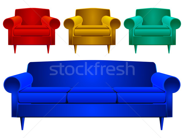 couch and armchairs Stock photo © robertosch