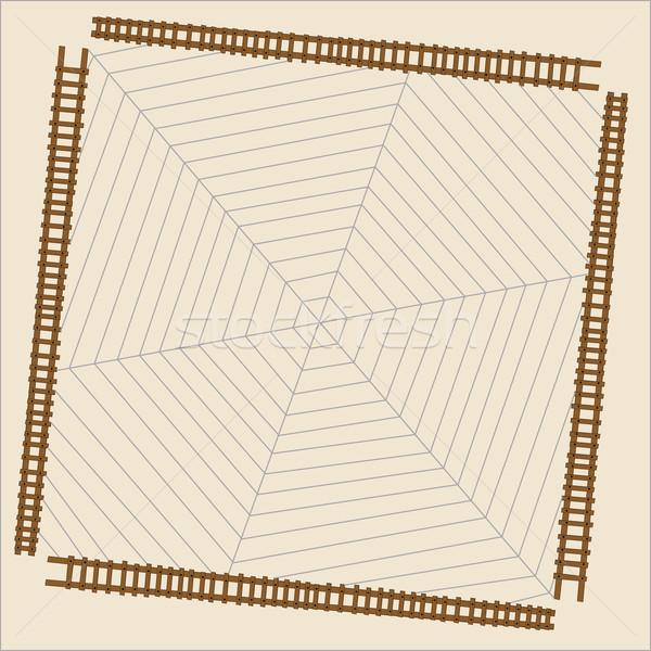 Aranha com teia da aranha abstrato vetor arte Foto stock © robertosch