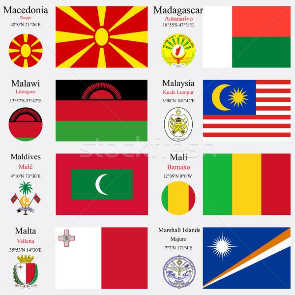 world flags and capitals set 14 Stock photo © robertosch