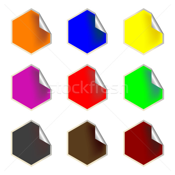 fresh hexagon labels Stock photo © robertosch