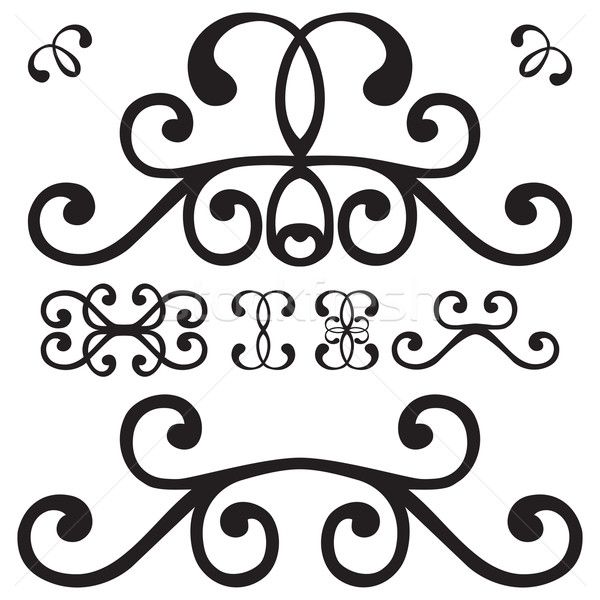 вектора дизайна украшения белый аннотация искусства Сток-фото © robertosch