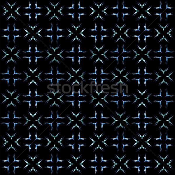 Biały niebieski czarno białe czarny wektora Zdjęcia stock © robertosch