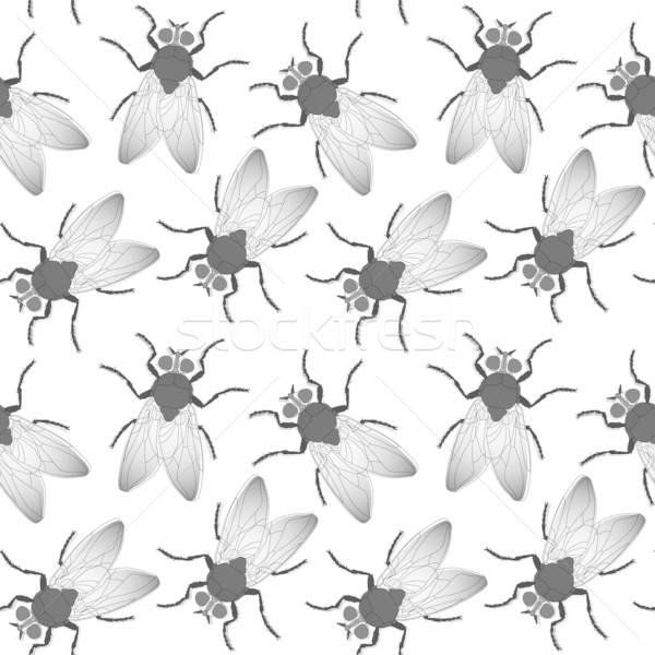 Voar sem costura textura abstrato padrão vetor Foto stock © robertosch