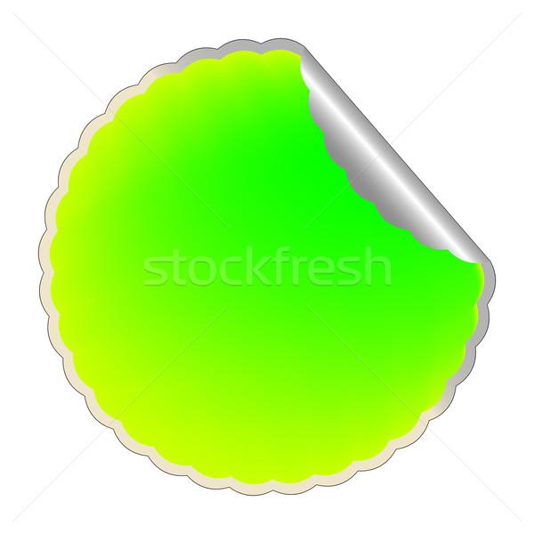 Zöld címke vektor művészet illusztráció narancs Stock fotó © robertosch