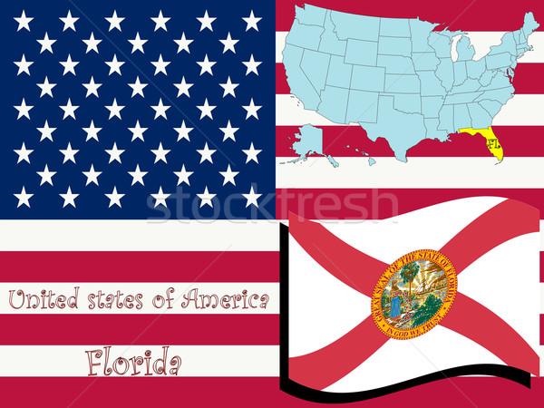 Florida illusztráció absztrakt vektor művészet terv Stock fotó © robertosch