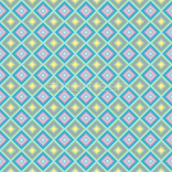 Pasztell négyzetek vektor művészet illusztráció textúra Stock fotó © robertosch