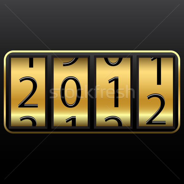 Szerencsés új év apró absztrakt vektor művészet Stock fotó © robertosch