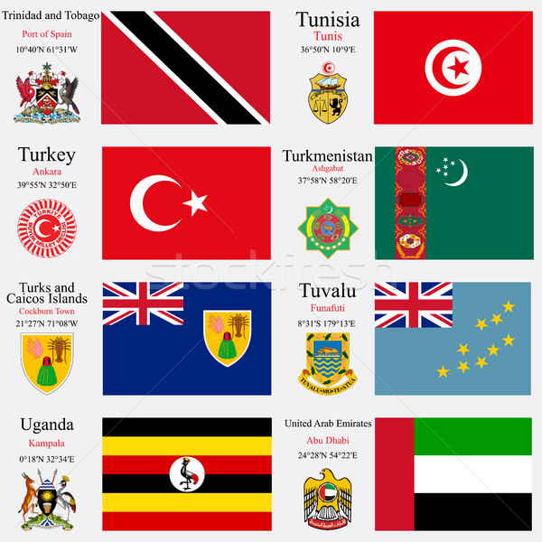 world flags and capitals set 25 Stock photo © robertosch