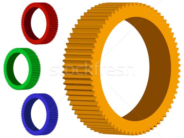 3d mechanic wheels Stock photo © robertosch