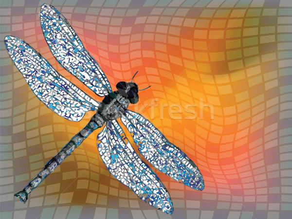 дракон лет текстуры аннотация вектора искусства Сток-фото © robertosch