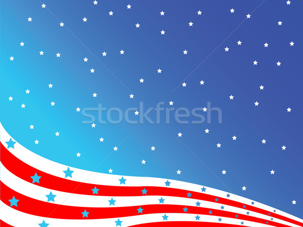 stylized american flag Stock photo © robertosch