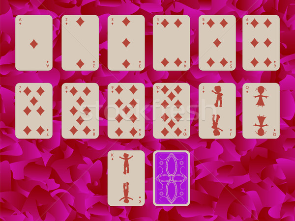 suit of diams playing cards on purple background Stock photo © robertosch