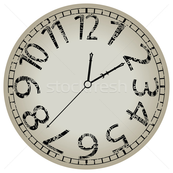 abstract clock against white Stock photo © robertosch