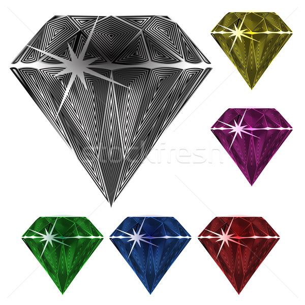 Diamentów biały streszczenie wektora sztuki ilustracja Zdjęcia stock © robertosch